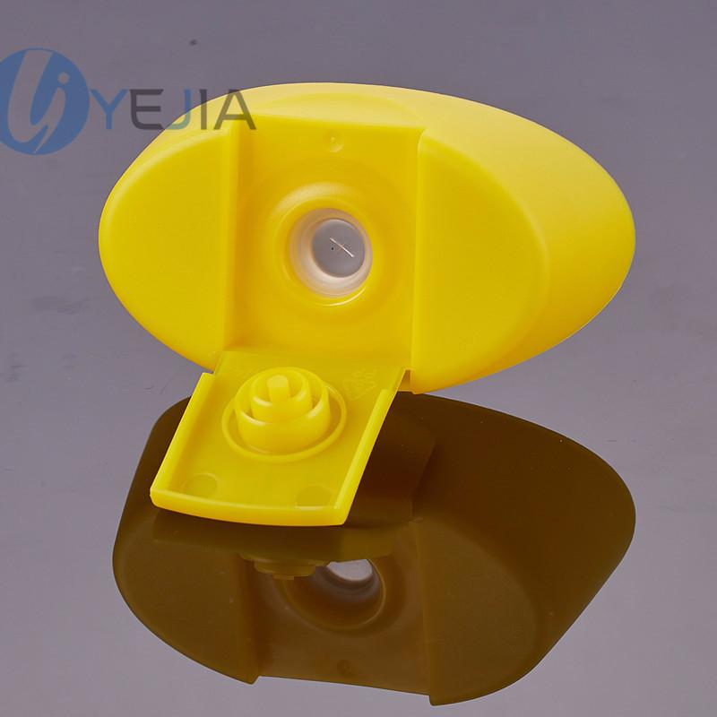 28mm口径食品级PP盖带硅胶控制阀挤压瓶瓶盖