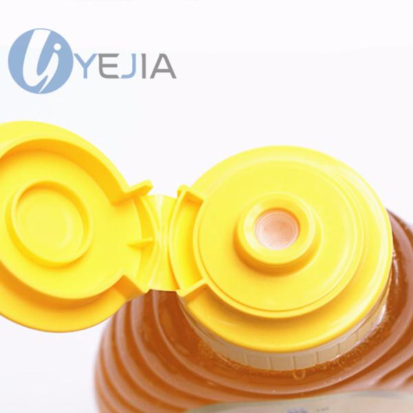 食品级PP材质蜂蜜挤压瓶瓶盖含硅胶阀,既密封又可定量挤出液体