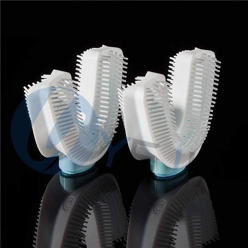 LSR液态包胶电动口含式硅胶牙刷,液态硅胶包食品级PC,LSR二次成型